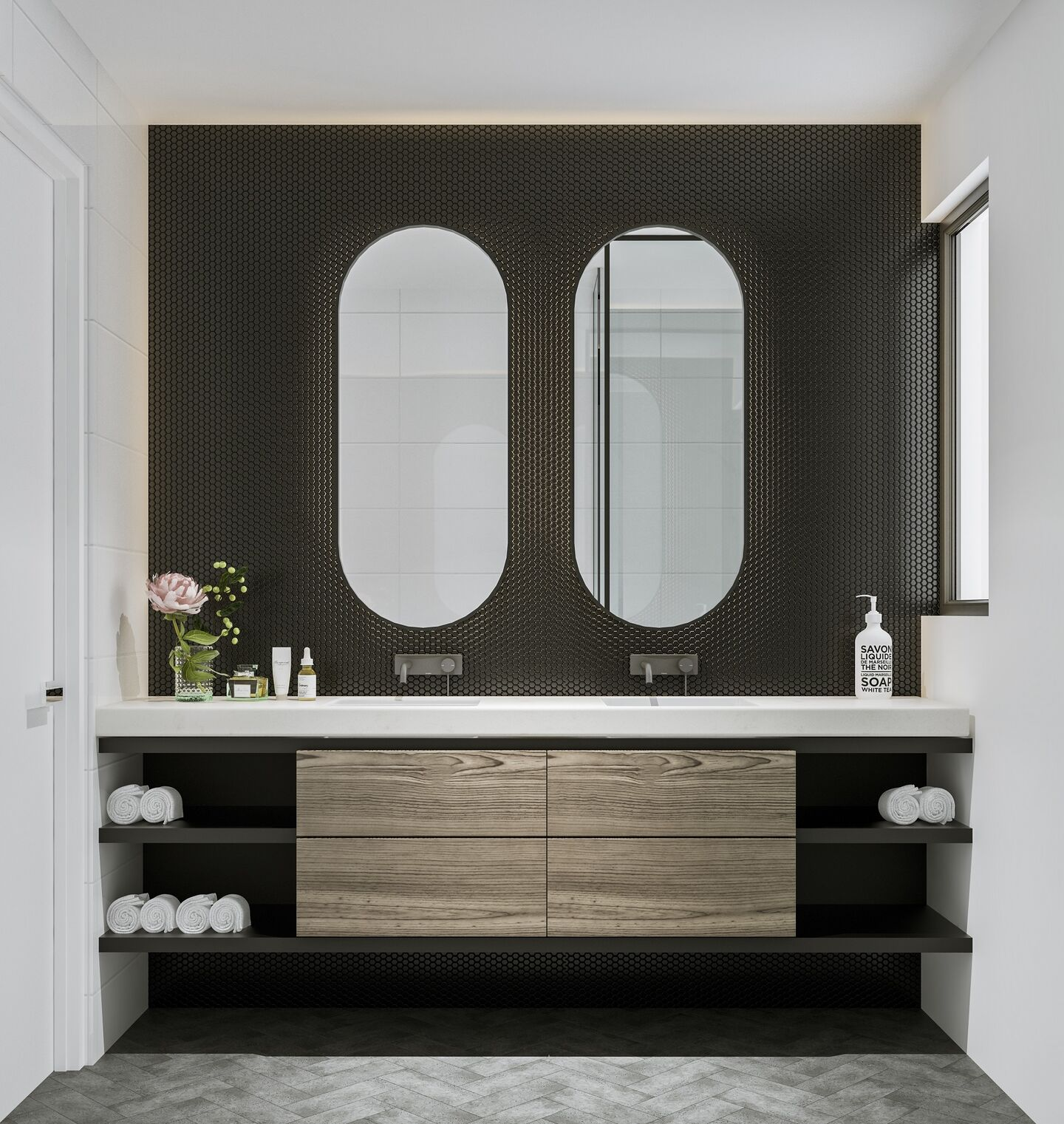 The Heggaton Ensuite Dark Scheme