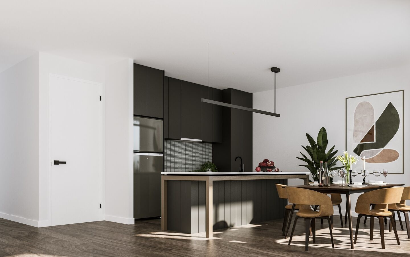 The Heggaton Kitchen Dark Scheme